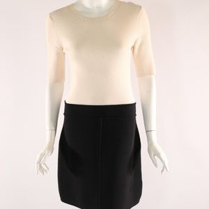 Theory NWT Medium Black/Cream Dress